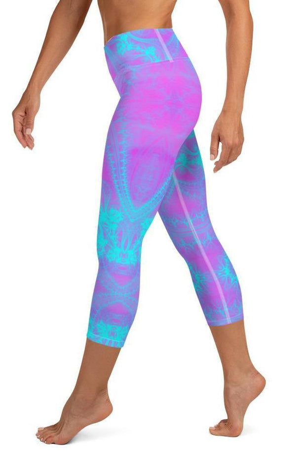 Pink Magic Capri-women's yoga capris-Eadness Life