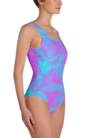 Pink Magic One-Piece Swimsuit-Eadness Life