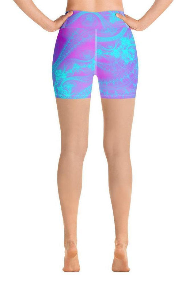 Pink Magic Shorts-women's yoga shorts-Eadness Life
