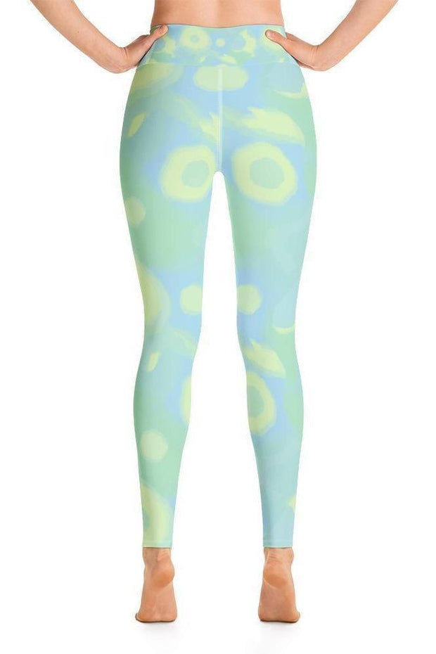Sea Turtles Bubbles Leggings-women's yoga leggings-Eadness Life