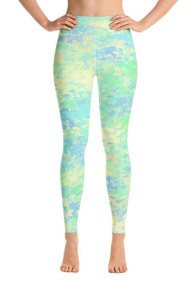 Sea Turtles Summer Leggings-women's yoga leggings-Eadness Life