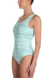 Seahorse Green Oil Swimsuit-women's one-piece swimsuit-Eadness Life