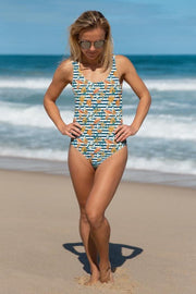 Shells by the Sea Swimsuit-women's one-piece swimsuit-Eadness Life