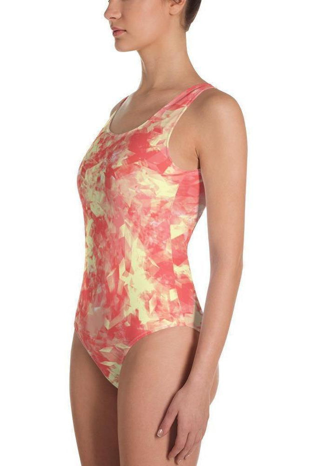 Sunny Solar One-Piece Swimsuit-women's one-piece swimsuit-Eadness Life