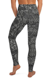 Trippin Dark Leggings-women's yoga leggings-Eadness Life