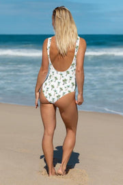 Under a Palm Tree Swimsuit-women's one-piece swimsuit-Eadness Life