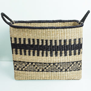 Abayomi Rectangular Stripe Basket - Large