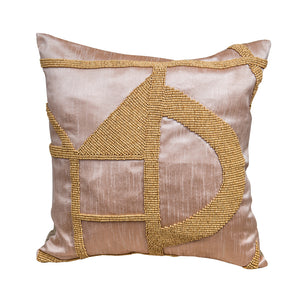 Hasani Beaded Cushion - Rose