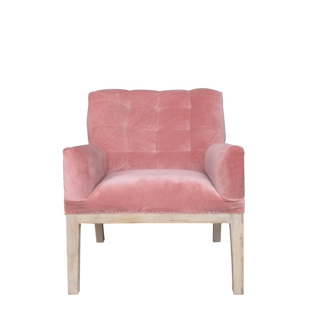 Henri Deconstructed Armchair - Blush
