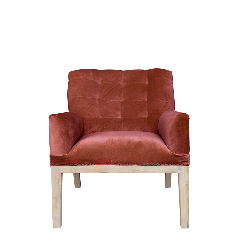 Henri Deconstructed Armchair - Terracotta