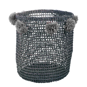 Iniya Pom Pom Basket - Cool Grey