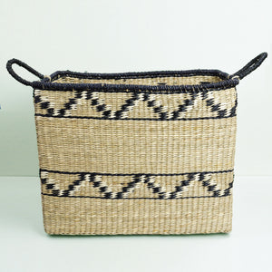 Abayomi Rectangular Zig Zag Basket - Medium