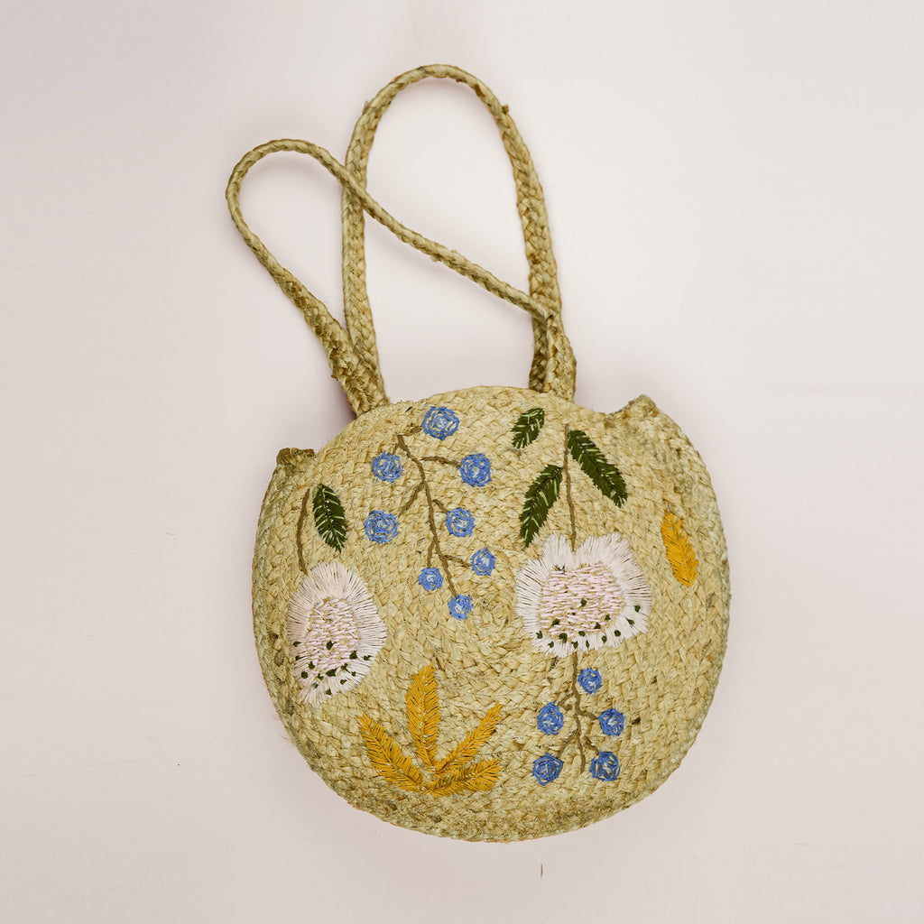 Lissa Jute Embroidered Shopper