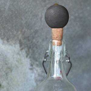 Nalin Marble Bottle Stopper - Grey