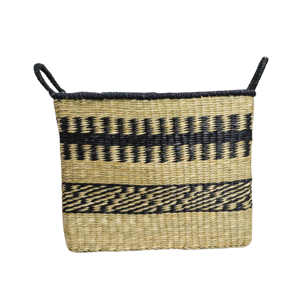 Abayomi Rectangular Stripe Basket