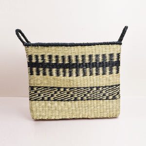 Abayomi Rectangular Stripe Basket - Medium