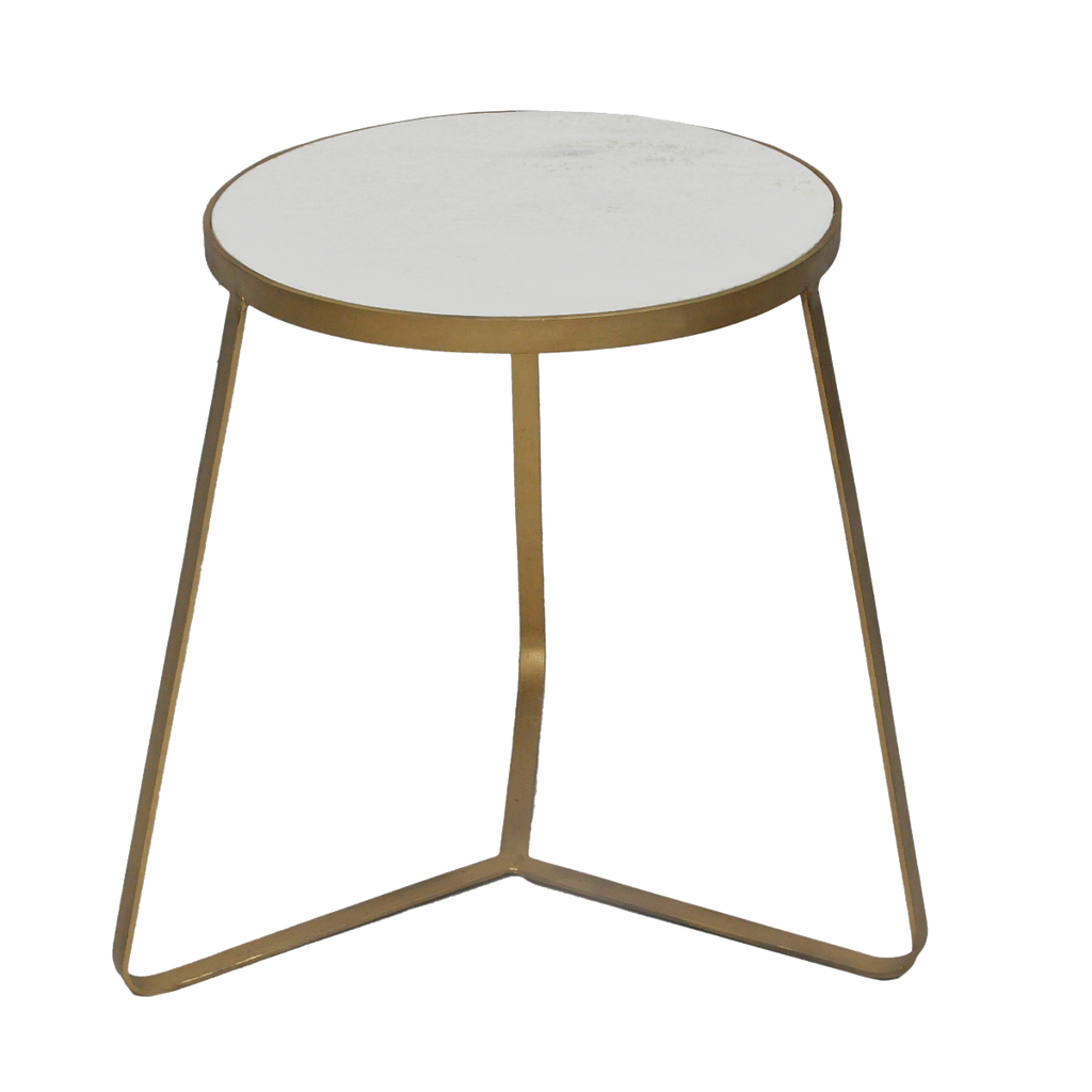 Charu Marble Side Table