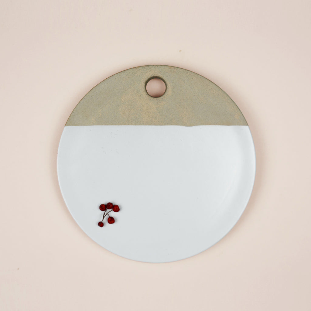 Dipped White Ceramic Chopping Board