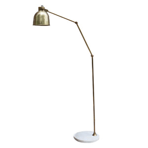 Kana Marble and Brass Floor Lamp