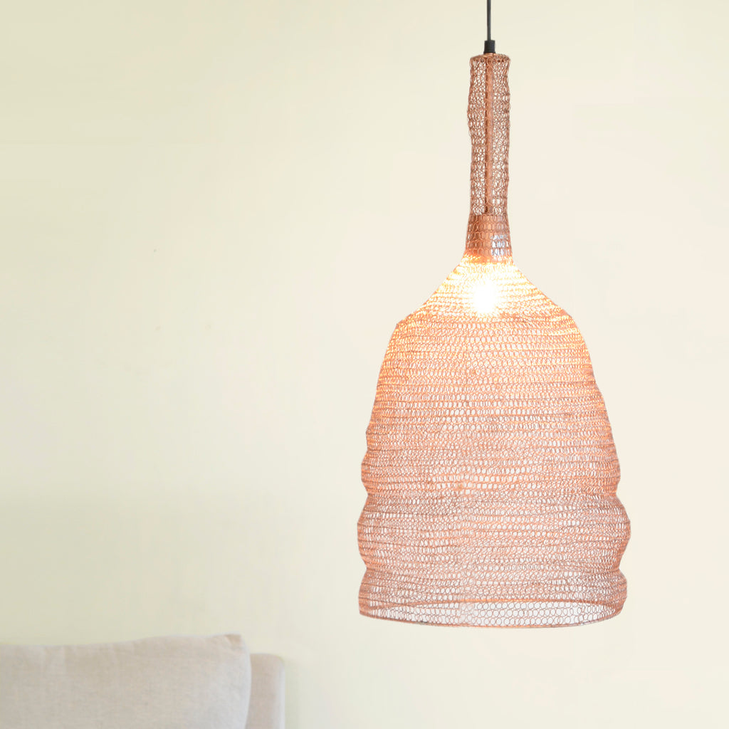 Copper Mesh Lampshade - Pendant