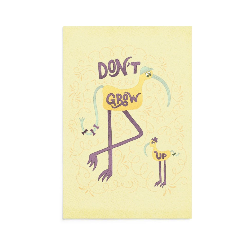 Beep & Boop | 5x7 Art Print | Note Card | Don't Grow Up | Wonderful Wild Souls | Cute, Quirky, Curious Creature Illustration