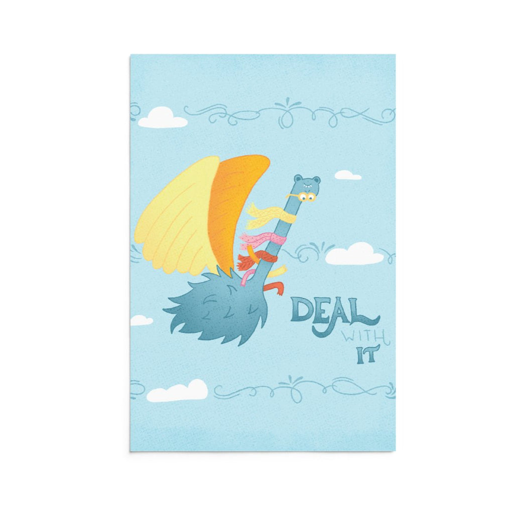 Carl | 5x7 Art Print | Note Card | Deal With It | Wonderful Wild Souls | Cute, Quirky, Curious Creature Illustration