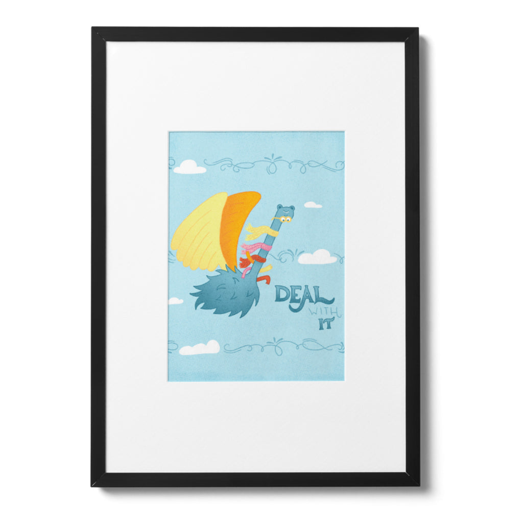 Carl | 8x10 Art Print | Poster | Deal With It | Wonderful Wild Souls | Cute, Quirky, Curious Creature Illustration