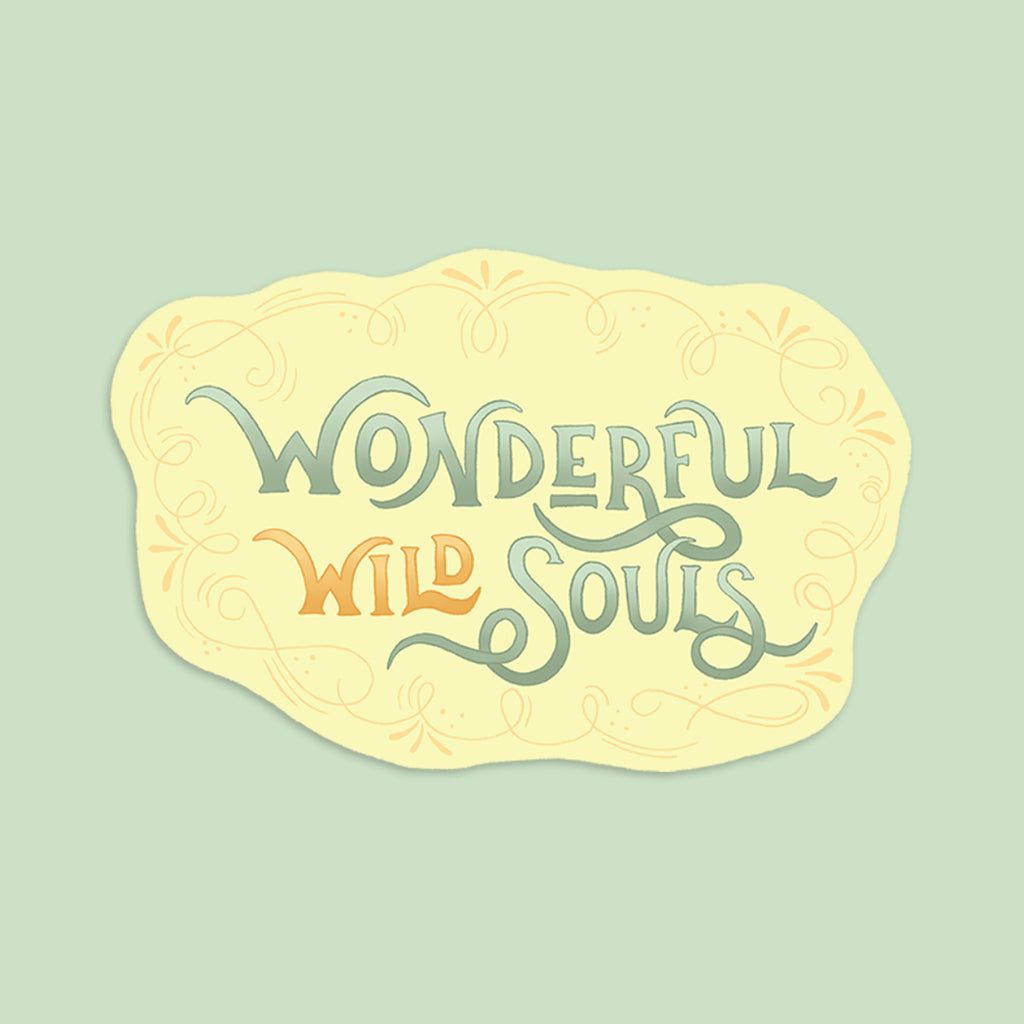Logo | Vinyl Sticker | Wonderful Wild Souls | Cute, Quirky, Curious Creature Illustration