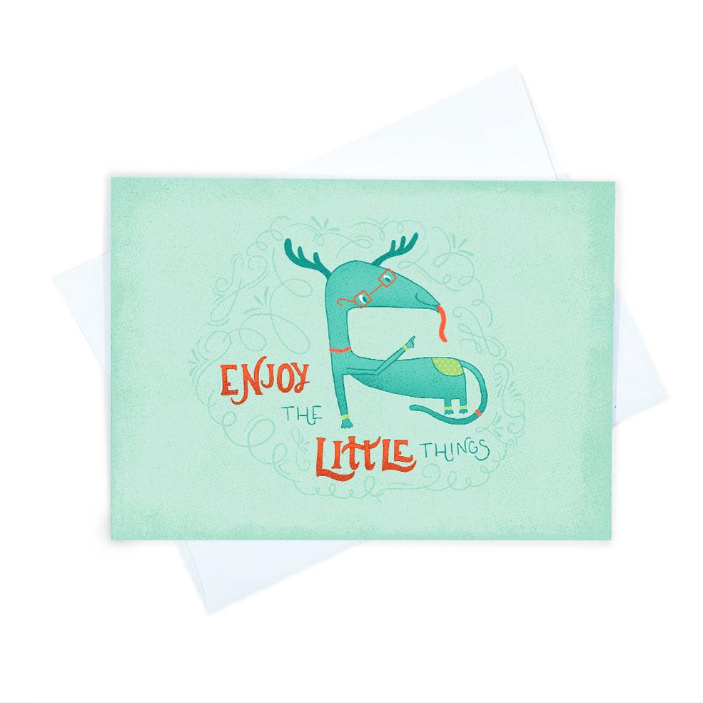 Louie | Cute Greeting Card | Wonderful Wild Souls | Cute, Quirky, Curious Creature Illustration