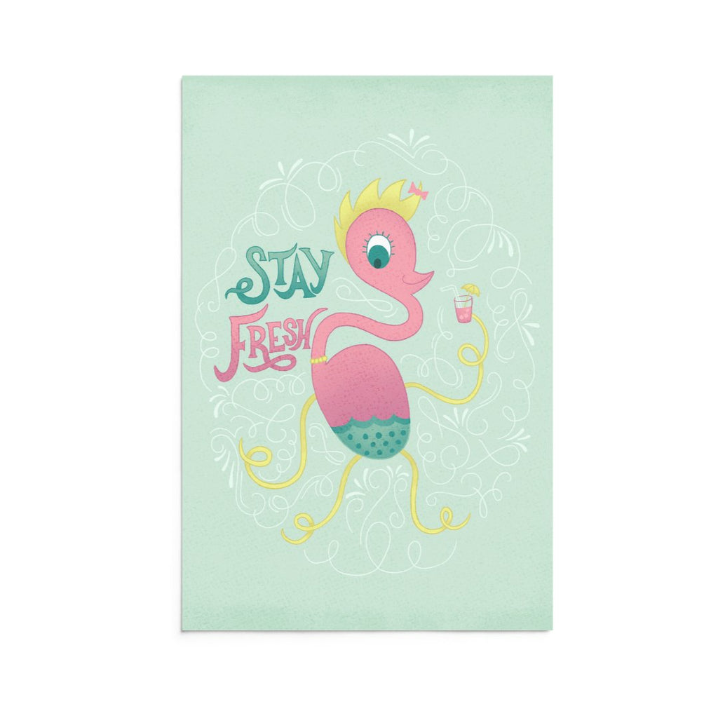 Lucy | 5x7 Art Print | Note Card | Stay Fresh | Wonderful Wild Souls | Cute, Quirky, Curious Creature Illustration
