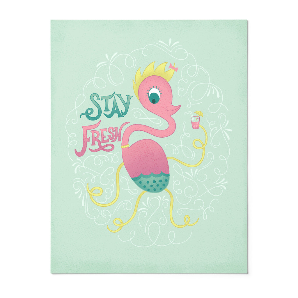 Lucy | 8x10 Art Print | Poster | Stay Fresh | Wonderful Wild Souls | Cute, Quirky, Curious Creature Illustration