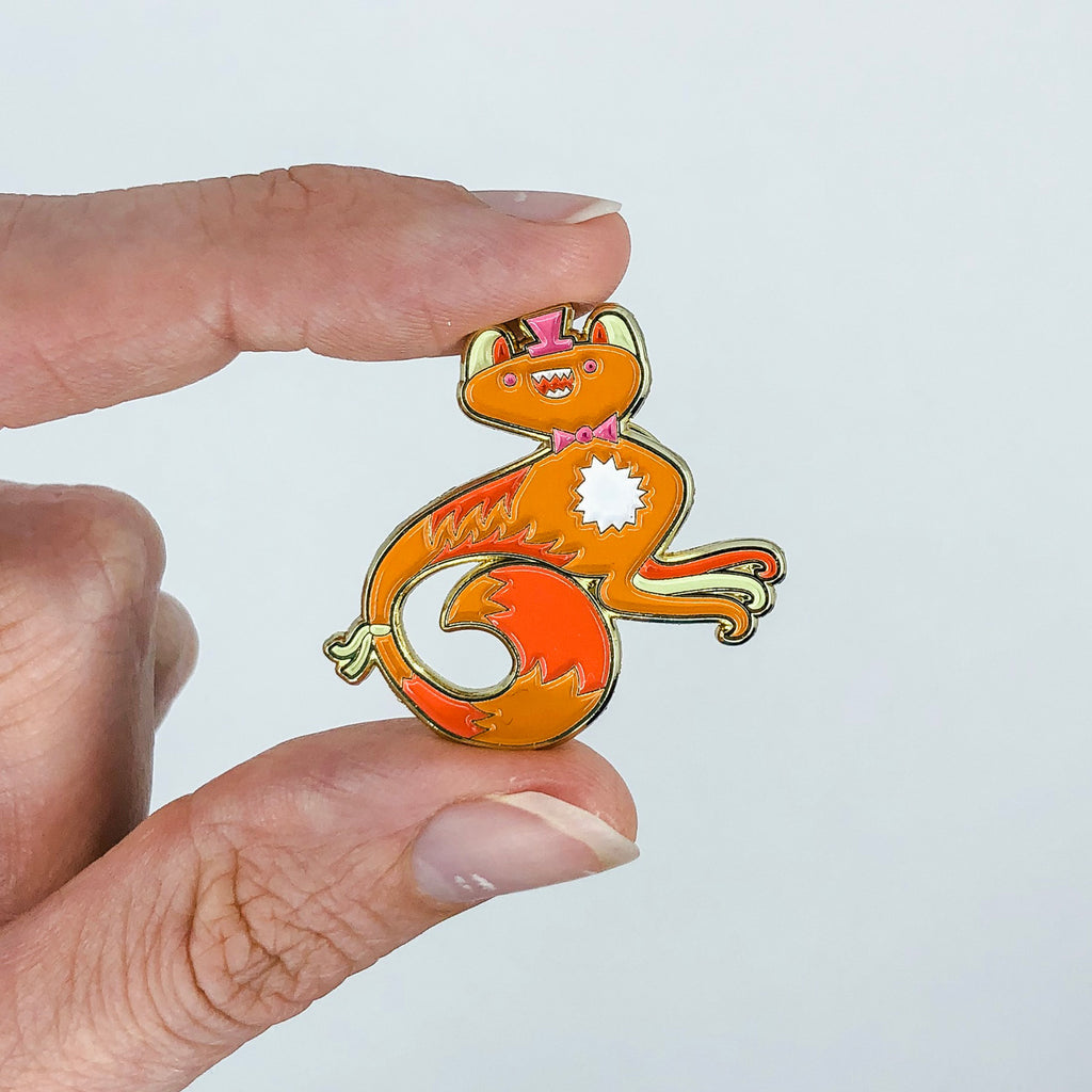 Milo | Soft Enamel Pin | Smile | Wonderful Wild Souls | Cute, Quirky, Curious Creature Illustration
