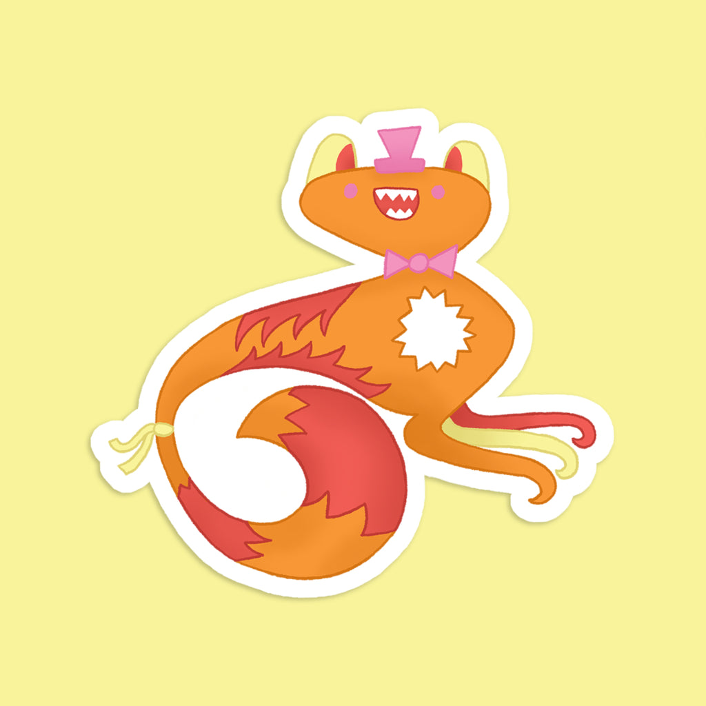 Milo | Vinyl Sticker | Smile | Wonderful Wild Souls | Cute, Quirky, Curious Creature Illustration