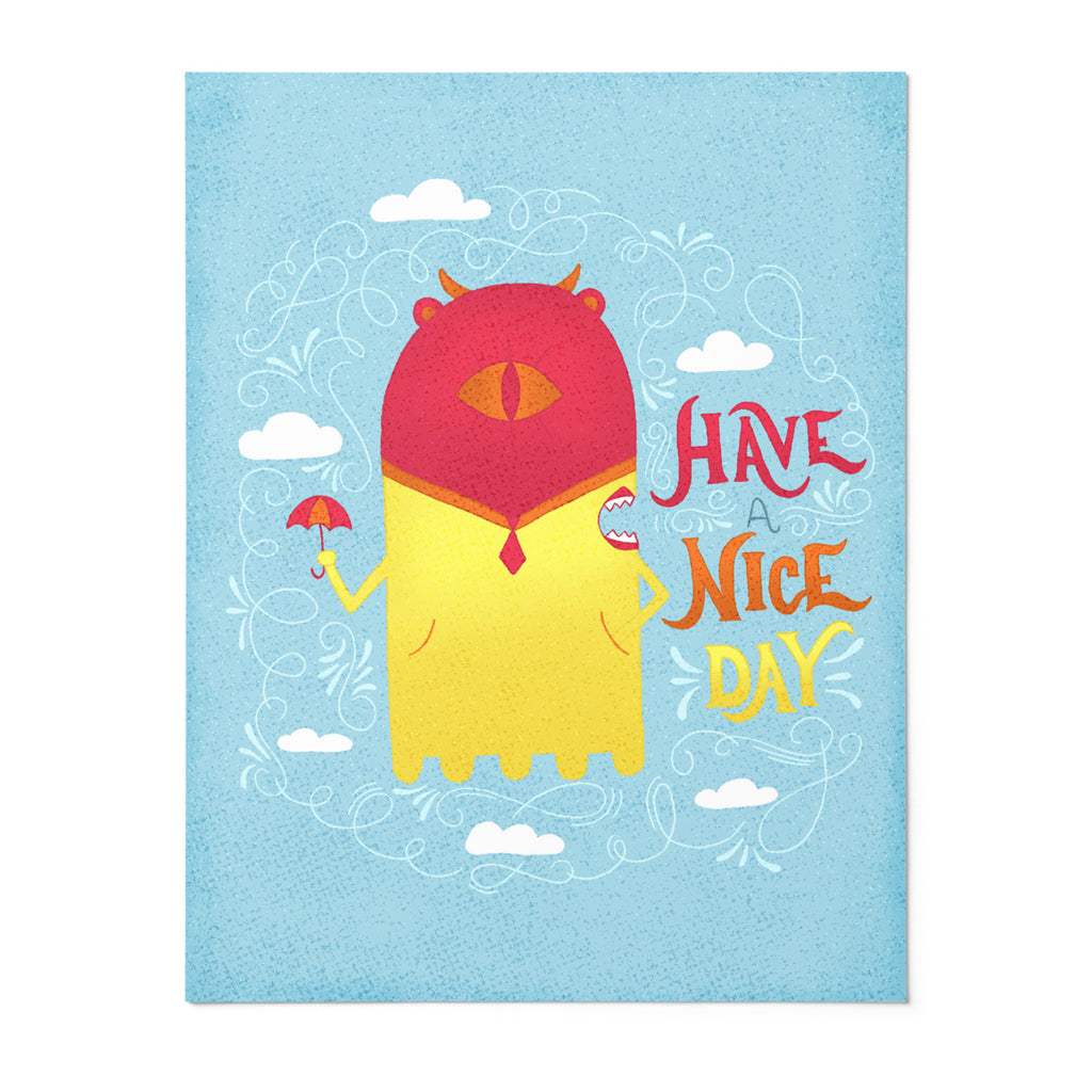Rainy Day Betty | 8x10 Art Print | Poster | Have a Nice Day | Wonderful Wild Souls | Cute, Quirky, Curious Creature Illustration