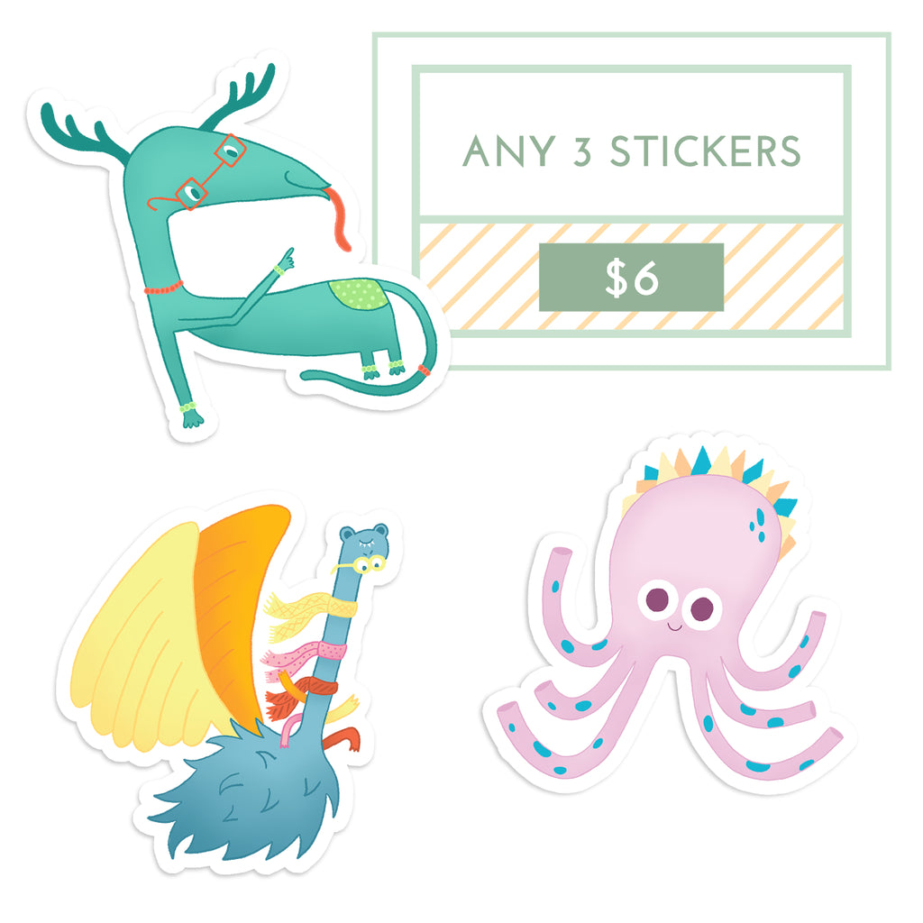 ANY 3 Stickers for $6