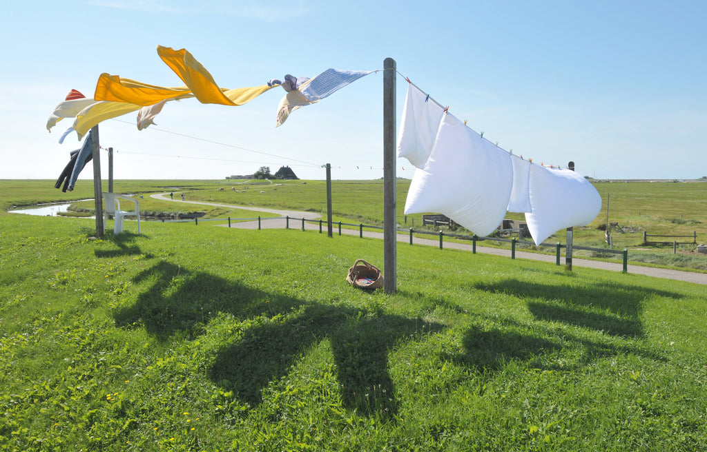 pices of clothing drying under the sun | whiten clothes without bleach