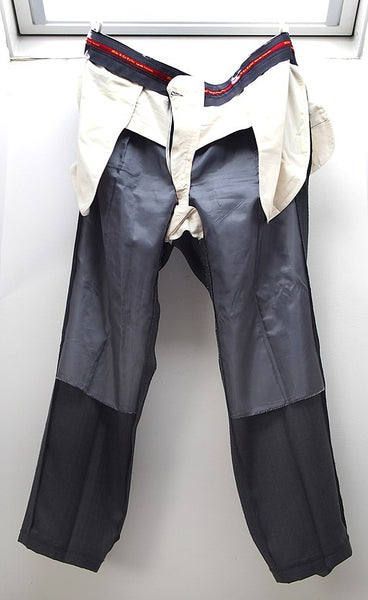 Man's trousers inside out
