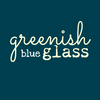 greenish blue glass logo