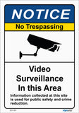 Notice - Video Surveillance No trespassing