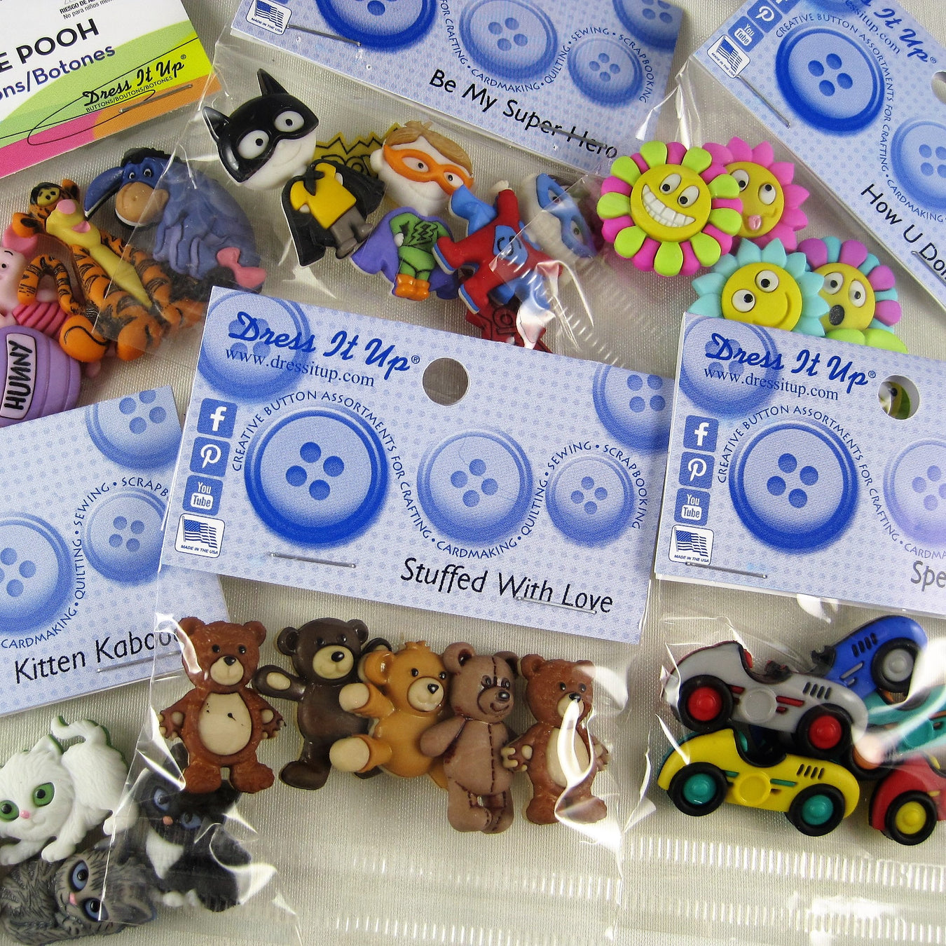 Children's Novelty Button Packs
