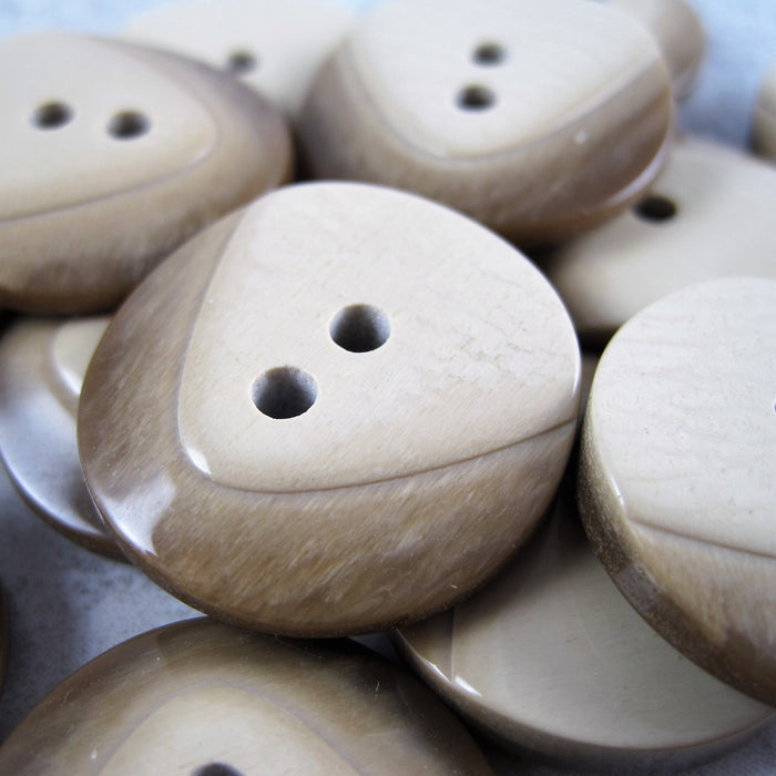 Beige Contoured button