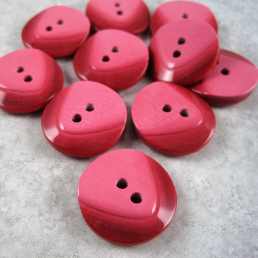 Red Contoured button