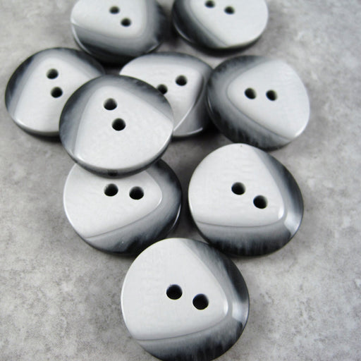 Grey Contoured Button