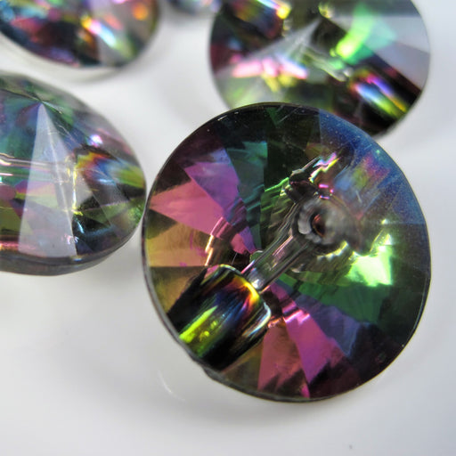 Multi Coloured Faceted Buttons