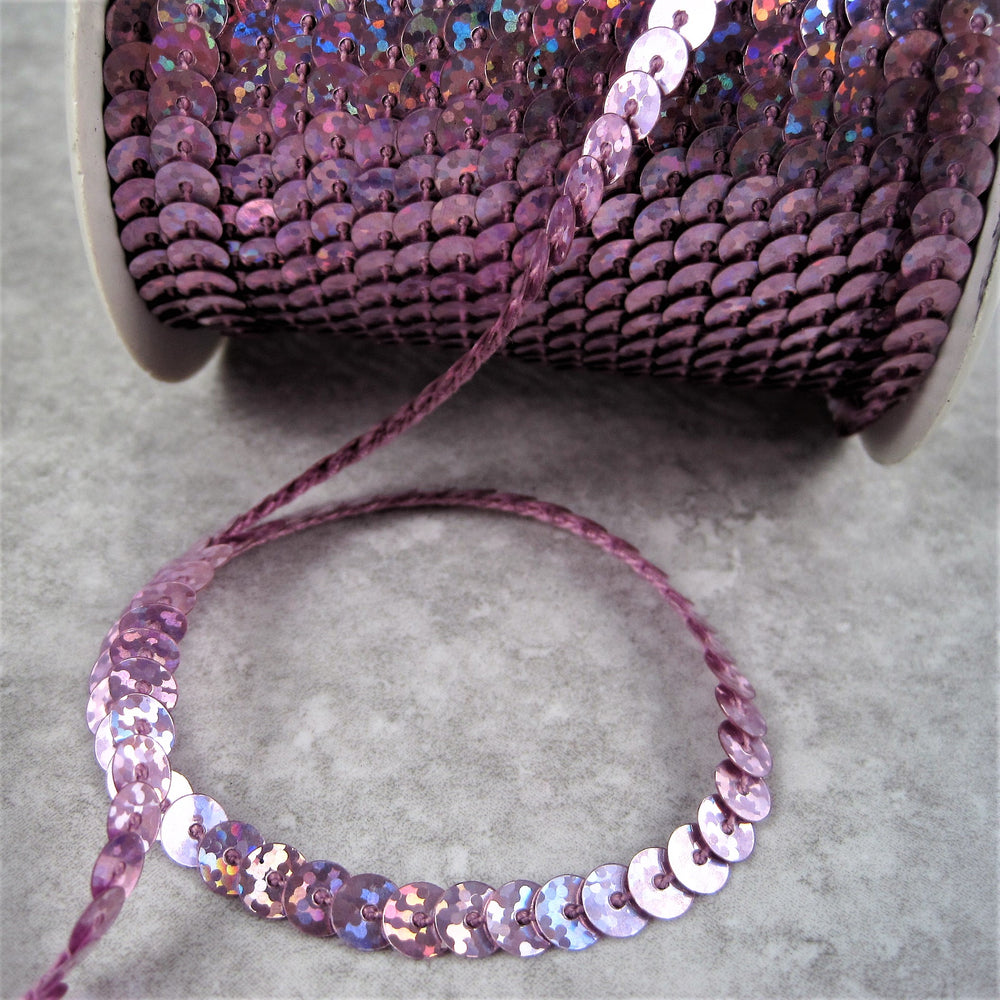 Holographic  Strung Sequins