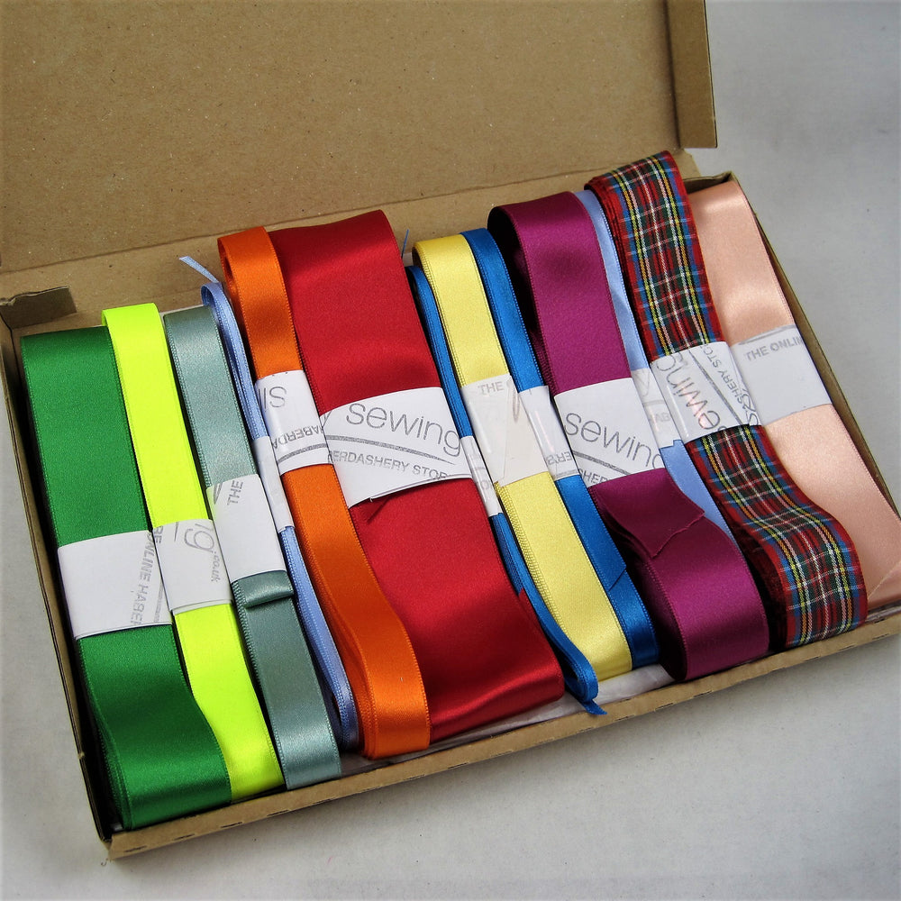 Stock Boxes - Double satin Ribbon.