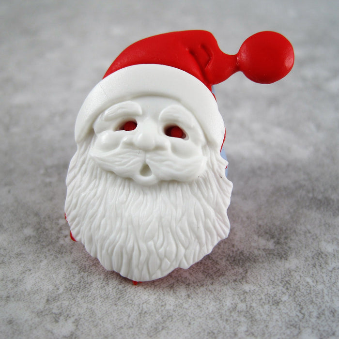 Father Christmas Button