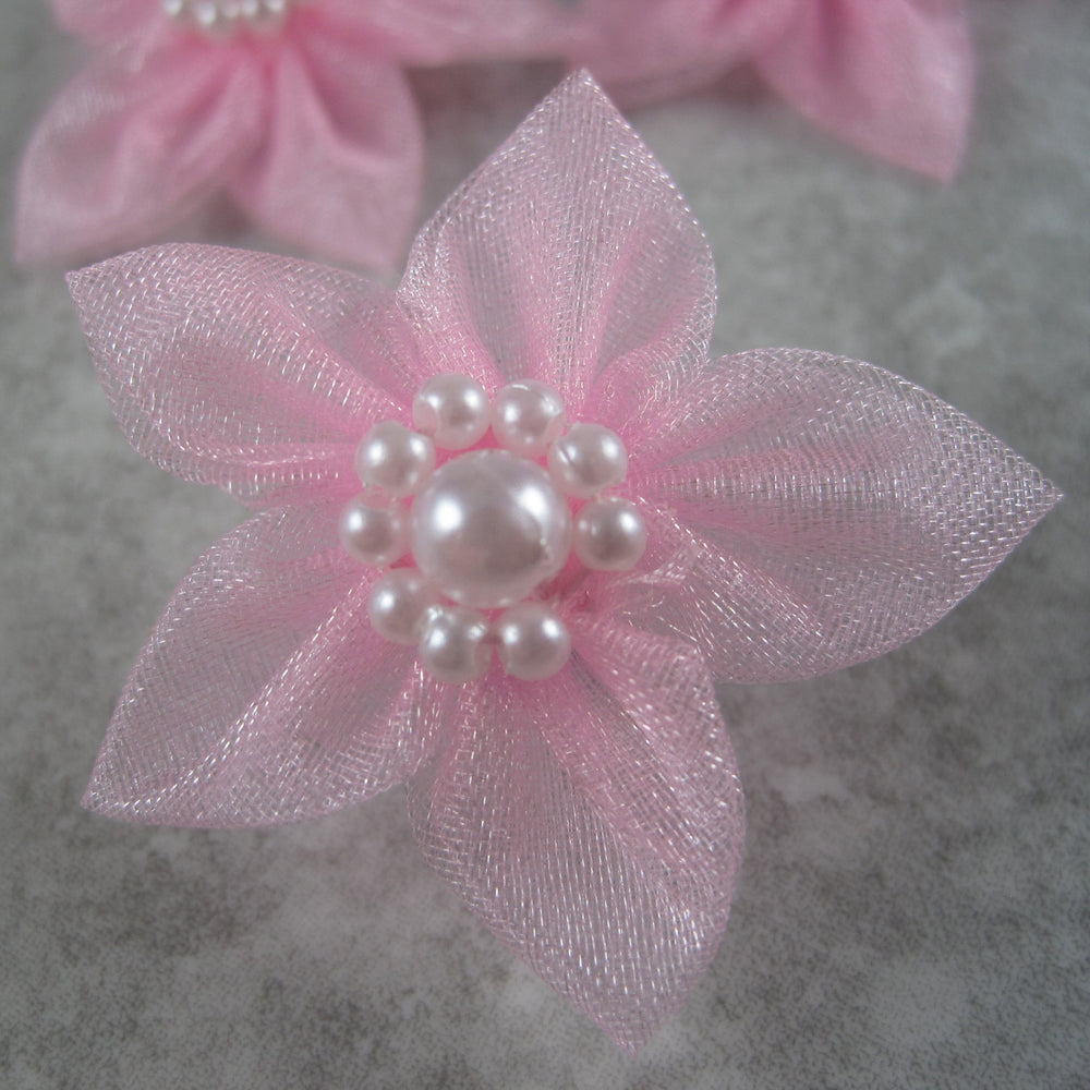 Sheer Star Bows - Light Pink