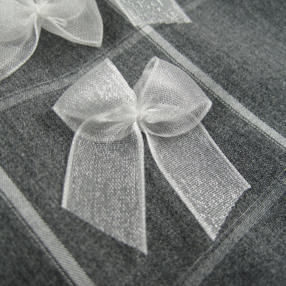 Sheer Bows - White