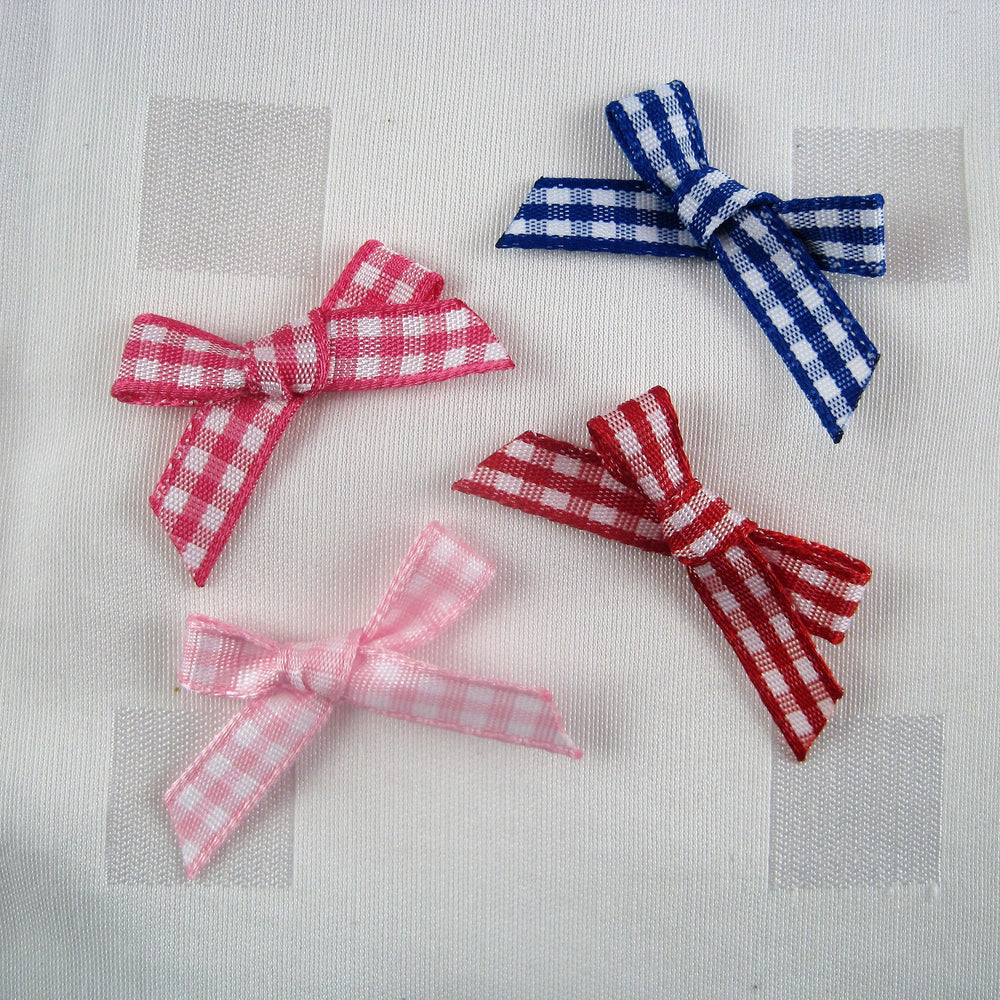 Small Gingham Bows